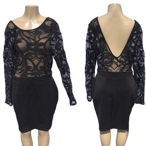 Women's Toto Black Lace low cut back Backless